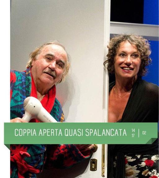 Al Teatro Delfino va in scenaCoppia aperta quasi spalancata, un classico di Dario Fo e Franca Rame