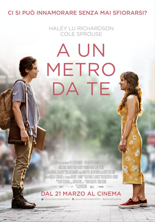 """I nuovi trailer e i poster del romantico film """"A UN METRO DA TE"""""""