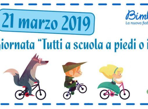 "5a Giornata Nazionale ""Tutti a scuola a piedi o in bici"" indetta da FIAB"