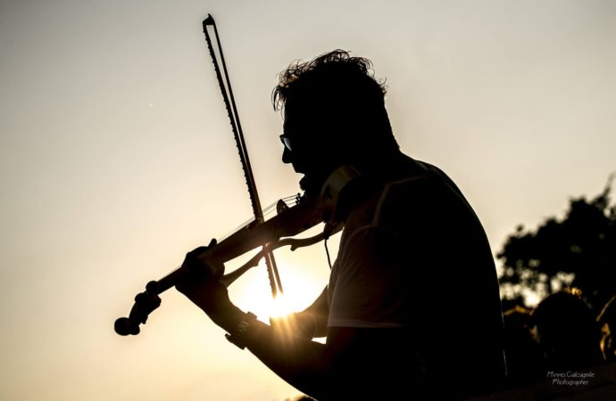 Mark Lanzetta (voice & violin performer) @ #Bollicine by DV Connection @ Bobadilla – Dalmine (BG)