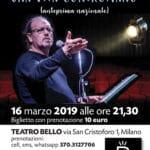 """Al Teatro Bello Associazione CAF in scena con Flavio Oreglio per """"Una vita contromano"""""""