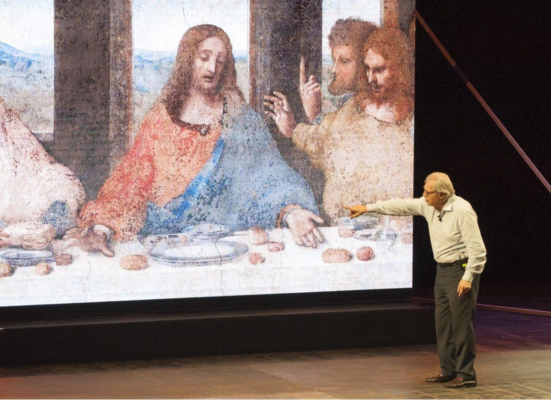 sul palcoscenico del Teatro Manzoni di Milano la presentazione diLEONARDO DI SER PIETRO DA VINCI (1452/1519), di cui proprio nel 2019 ricorreranno le celebrazioni dal cinquecentenario della morte.