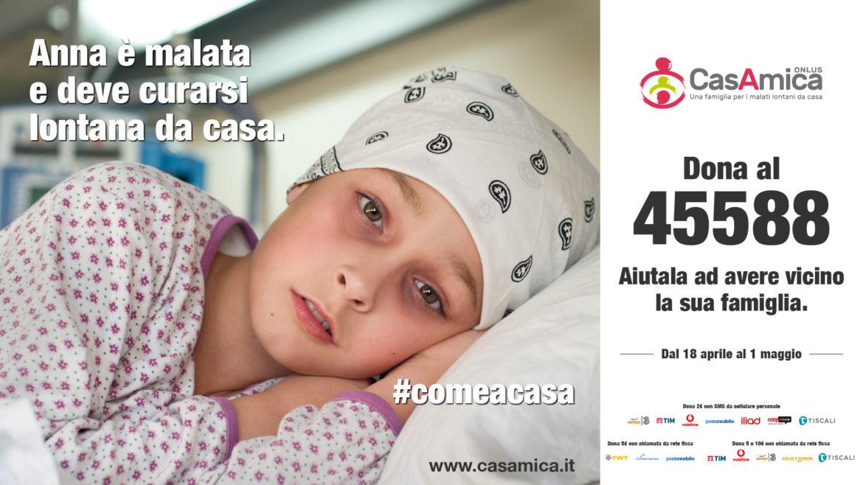 CasAmica onlus lancia la campagna sms solidale #ComeACasa