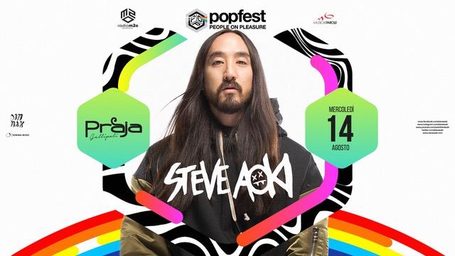 14/8 Steve Aoki ribalta Popfest – People on Pleasure c/o Praja – Gallipoli
