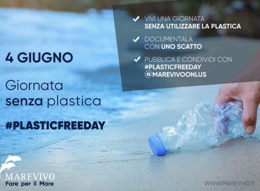 """Marevivo lancia """"la giornata senza plastica"""" – 4 giugno  #plasticfree day"""