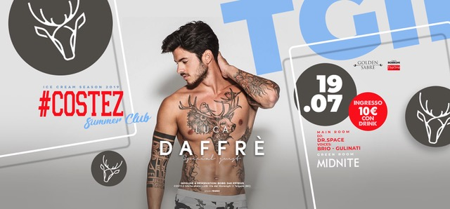 #Costez – Telgate (BG): 19/7 Luca Daffrè, 20/7 Besame