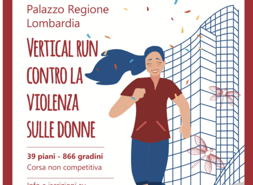 """Il più grande evento """"Vertical Run"""" d'Italia contro la violenza sulle donne."""