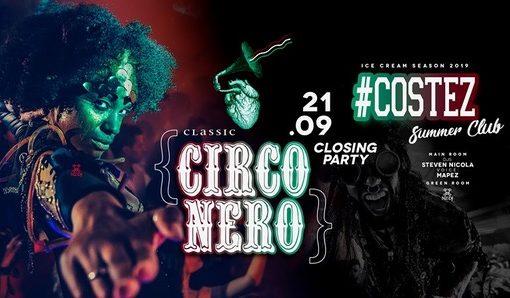 #Costez Summer Club – Telgate (BG), si chiude una grande estate: 20/09 Closing Friday 21/9 Circo Nero