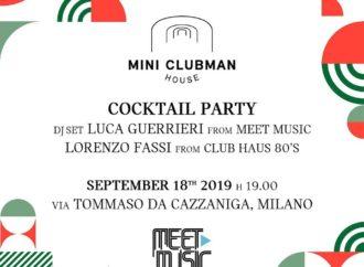 18/9 Luca Guerrieri (Meet Music) fa muovere MINI Clubman House – Milano