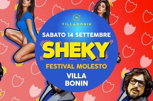 Villa Bonin: 13/9 Siamo tornati – 7.2, 14/9 Sheky – Festival Molesto, Candy Love, Que Pasa