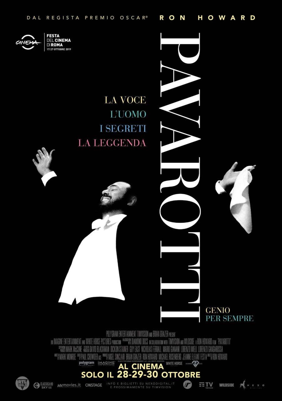 PAVAROTTI, il docu-film sul famoso tenore, 28, 29 e 39 ottobre