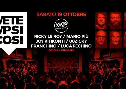Metempsicosi incanta Bolgia – Bergamo (Ricky Le Roy, Mario Più, Joy Kitikonti, 00Zicky, Franchino, Luca Pechino)
