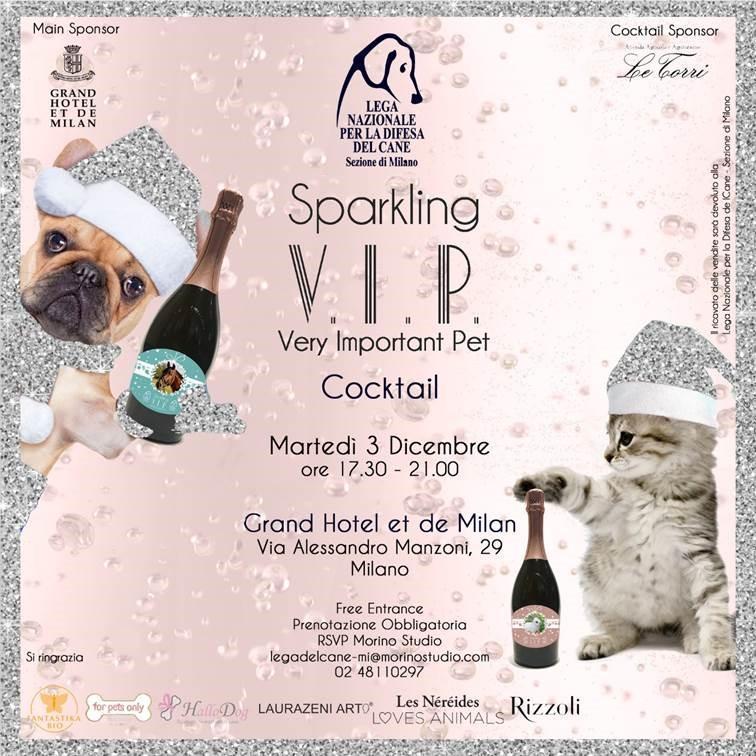 Sparkling VIP - Very Important Pets: al Grand Hotel et de Milan vendita benefica di spumante il 3 dicembre
