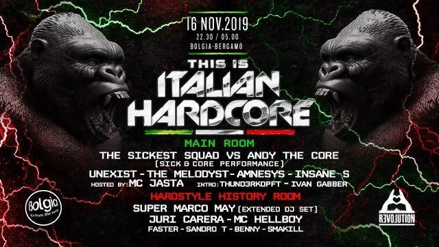 16/11 This is Italian Hardcore at Bolgia – Bergamo
