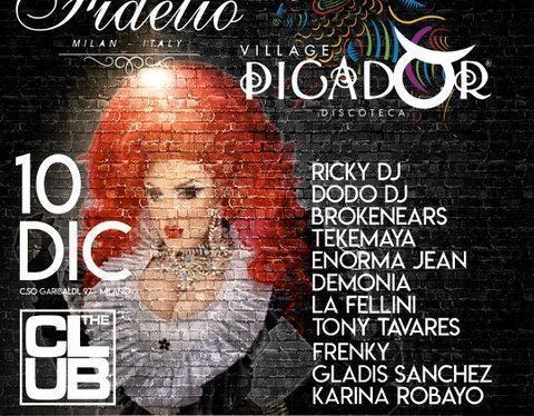 10/12 Fidelio Milano meets Picador Village fa muovere The Club. 17/12 Fidelio Meets Flo Firenze