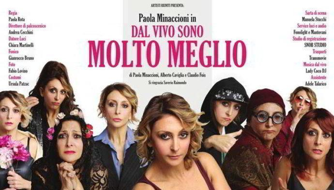 """Teatro Serassi: serata charity con Paola Minaccioni in """"Dal vivo sono molto meglio"""""""