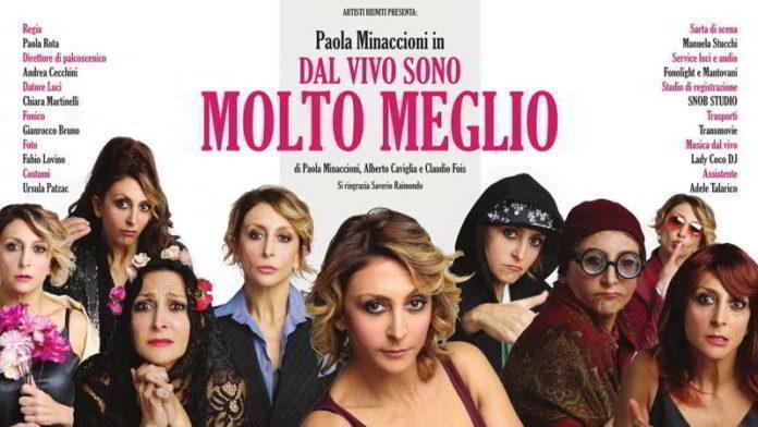 """Serata charity al Teatro Serassi: Paola Minaccioni in """"Dal vivo sono molto meglio"""""""