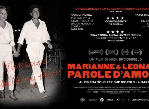 Marianne & Leonard, film evento sulla storia d'amore tra Leonard Cohen e Marianne Ihlen