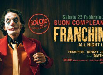 Franchino fa scatenare il Bolgia di Bergamo per il suo compleanno