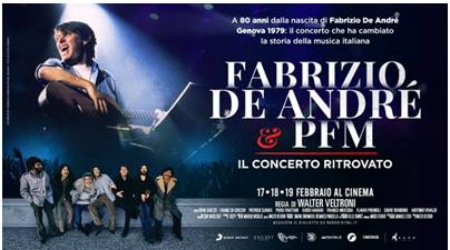 Fabrizio De André e PFM. Il concerto ritrovato, al cinema il docu-film diretto da Walter Veltroni