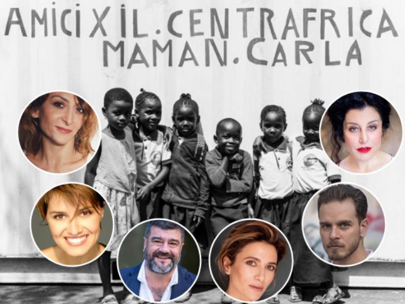 Attori ed artisti a sostegno dell'Associazione Amici per il Centrafrica Carla Maria Pagani