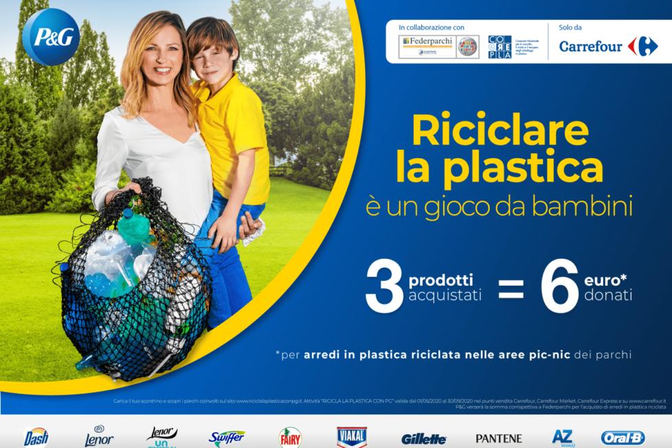 """Campagna Procter & Gamble """"Riciciclare la plastica è un gioco da bambini"""""""