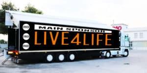 Live4Life, lo spettacolo dal vivo sotto casa tua