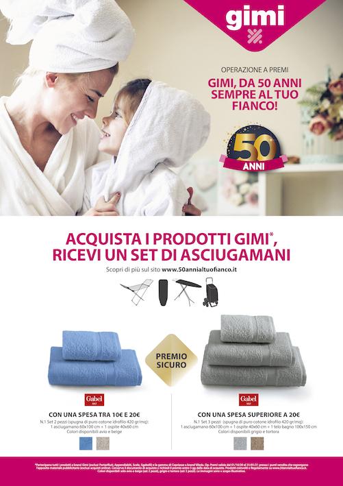 GIMI: parte la campagna Gimi, da 50 anni sempre al tuo fianco!