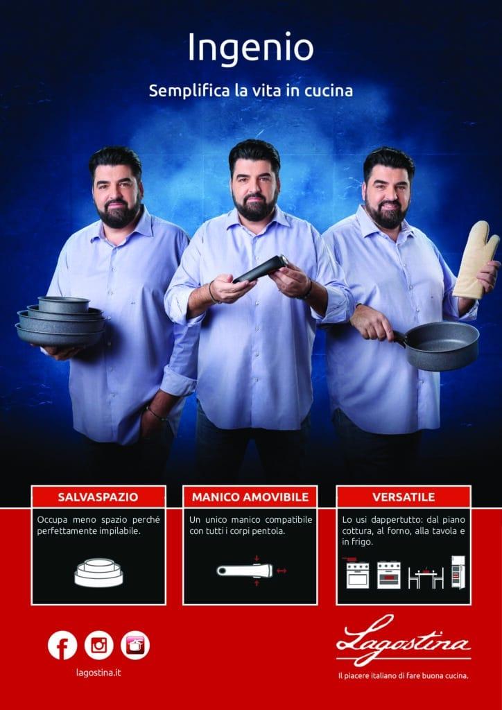 Lo Chef Cannavacciuolo è la star di Ingenio, la famosa gamma Lagostina